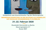 Thumbnail for the post titled: Symposium zum Tag der Muttersprache 2020